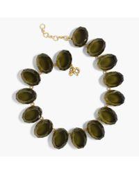 J.Crew - Green Oversized Gem Necklace - Lyst