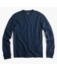 J.Crew - Blue Slim Broken-in Long-sleeve T-shirt for Men - Lyst