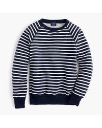Saint James - Blue Striped Sweatshirt - Lyst