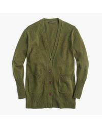 J.Crew | Green Oversized Cardigan Sweater | Lyst