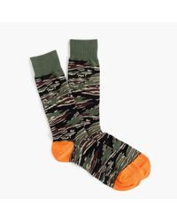J.Crew - Green Camo Socks for Men - Lyst