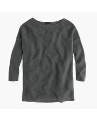 J.Crew | Gray Italian Cashmere Boatneck Tunic | Lyst