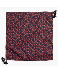 J.Crew - Red Bandana In Liberty Floral - Lyst