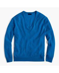 J.Crew | Blue Italian Cashmere Boyfriend V-neck Sweater for Men | Lyst