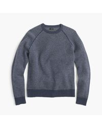 J.Crew - Blue Textured Lambswool Sweater for Men - Lyst