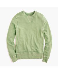 J.Crew | Green Garment-dyed Crewneck Sweatshirt for Men | Lyst