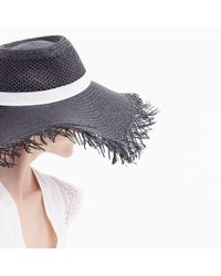 J.Crew - Multicolor Wide Brim Straw Hat With Fringe - Lyst