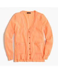 J.Crew - Multicolor Summerweight Cardigan Sweater In Neon - Lyst