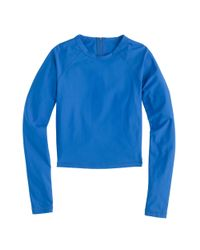 J.Crew | Blue Cropped Long-sleeve Rash Guard | Lyst