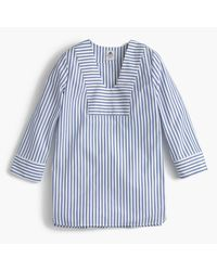 J.Crew | Blue Collection Thomas Mason Scoopneck Tunic In Classic Stripe | Lyst