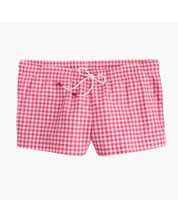 J.Crew | Pink Board Short In Gingham | Lyst