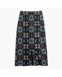 J.Crew | Black A-line Midi Skirt In Mirrored Floral | Lyst