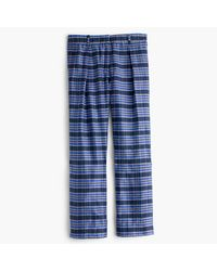 J.Crew | Blue Collection Cropped Pant In Yarn-dyed Silk | Lyst