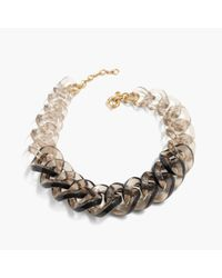 J.Crew | Metallic Squared Lucite Link Necklace | Lyst
