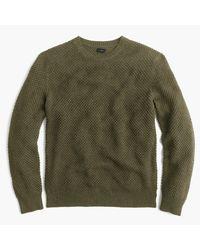 J.Crew   Green Cotton Textured-stitch Crewneck Sweater for Men   Lyst