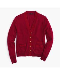 J.Crew - Red Harlow Cardigan Sweater - Lyst