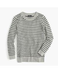 J.Crew | Black Tippi Sweater In Jacquard Dot | Lyst