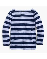 J.Crew | Blue Rugby-stripe Boatneck T-shirt for Men | Lyst
