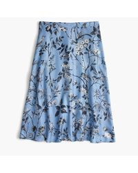 J.Crew | Blue Collection Flowy A-line Skirt In Ratti Monkey Print | Lyst