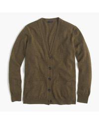 J.Crew | Green Italian Cashmere Boyfriend Cardigan Sweater for Men | Lyst