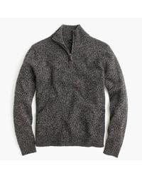 J.Crew   Gray Slim Marled Lambswool Half-zip Sweater for Men   Lyst
