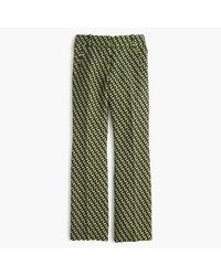 J.Crew | Green Collection Cropped Wool Pant In Ratti Geometric Tile Print | Lyst