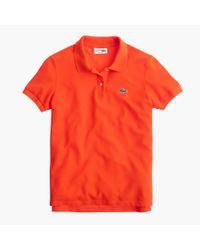 J.Crew - Orange Lacoste Polo Shirt - Lyst
