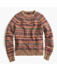 J.Crew | Multicolor Lambswool Fair Isle Sweater In Honey for Men | Lyst