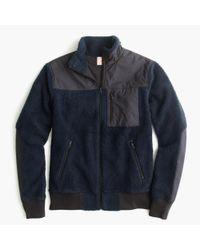J.Crew | Blue Grizzly Fleece Full-zip Jacket for Men | Lyst
