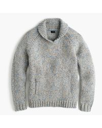 J.Crew | Gray Shawl-collar Sweater In Donegal Wool for Men | Lyst