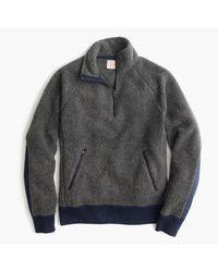 J.Crew | Gray Grizzly Fleece Half-zip Pullover for Men | Lyst