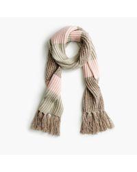 J.Crew | Natural Italian Wool-blend Striped Scarf | Lyst