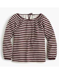 J.Crew | Multicolor Striped Peasant Top | Lyst