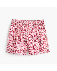 J.Crew | Red Hearts And Arrows Print Boxers for Men | Lyst