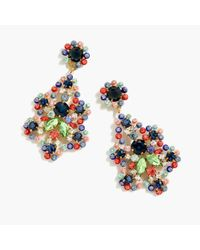 J.Crew - Multicolor Crystal And Acetate Statement Earrings - Lyst