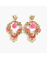 J.Crew - Multicolor Floral Statement Earrings - Lyst