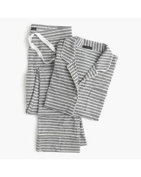 J.Crew Multicolor Petite Dreamy Cotton Pajama Set In Stripe