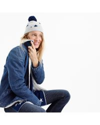 J.Crew - Blue Everyday Cashmere Beanie In Kaleidescope Star Print - Lyst