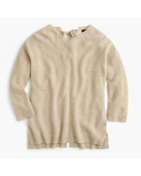 J.Crew | Natural Italian Cashmere Tie-back Sweater | Lyst