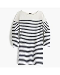 J.Crew | Blue Striped Boatneck Tunic | Lyst