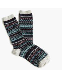 J.Crew | Blue Trouser Socks In Fair Isle | Lyst