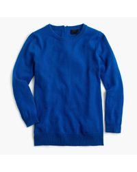 J.Crew | Blue Italian Cashmere Button-back Sweater | Lyst
