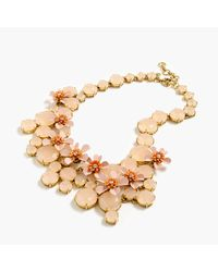 J.Crew - Metallic Water Lily Necklace - Lyst