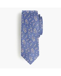 J.Crew | Blue English Silk Tie In Floral Print for Men | Lyst