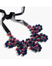 J.Crew - Blue Garden Statement Bib Necklace - Lyst