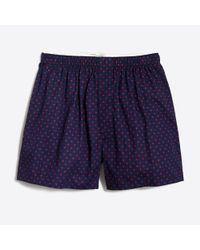 J.Crew - Blue Small Hearts Boxers for Men - Lyst