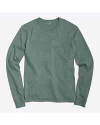 J.Crew - Green Long-sleeve Textured Cotton T-shirt for Men - Lyst