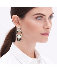J.Crew - Multicolor Tortoise Flower Statement Earrings - Lyst