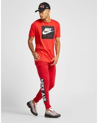 736dd0986afc Nike Air Logo Track Pants in Red for Men - Lyst