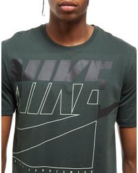 Nike - Green Futura Outline T-shirt for Men - Lyst